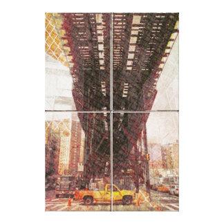 Nyc AirSub Ways of commuting Canvas Print