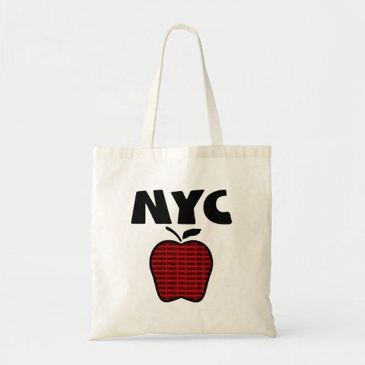 NYC - Apple grande con las 5 ciudades Bolsas De Mano
