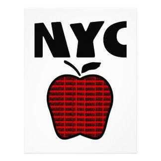 NYC - Apple grande con las 5 ciudades Membrete