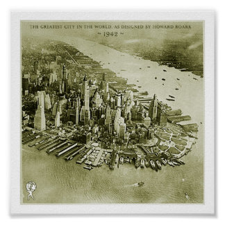NYC, as designed by Howard Roark Poster