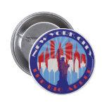 NYC Big Apple Patriot 2 Inch Round Button
