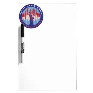 NYC Big Apple Patriot Dry-Erase Board