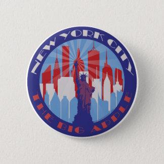 NYC Big Apple Patriot Pinback Button