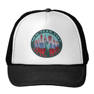 NYC Big Apple round Trucker Hat