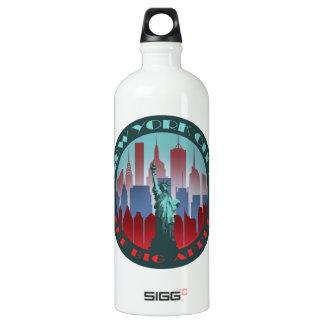 NYC Big Apple round Water Bottle