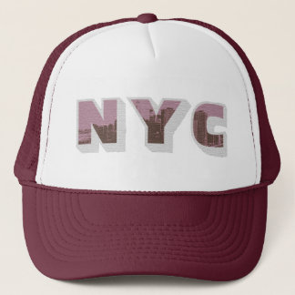 NYC Big Apple vintage photo graphic style Trucker Hat