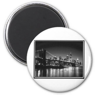 NYC black and white Refrigerator Magnet