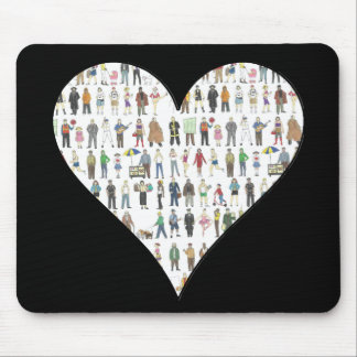 NYC Black Heart New York City People Mousepad
