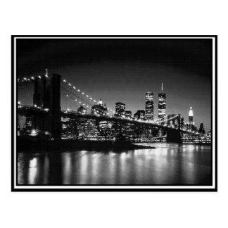 NYC blanco y negro Tarjeta Postal