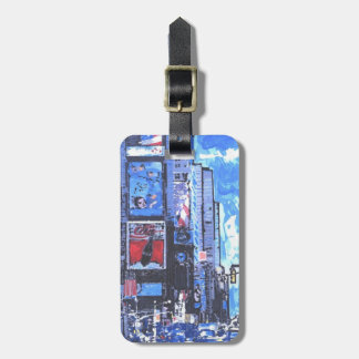 NYC Blue Times Square painting Luggage Tag