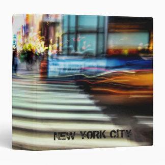 "NYC Blur Abstract 1.5"" Photo Album 3 Ring Binder"