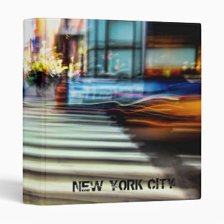 "NYC Blur Abstract 1"" Photo Album Vinyl Binders"