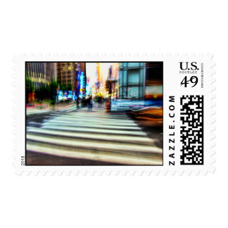 NYC Blur Abstract Postage