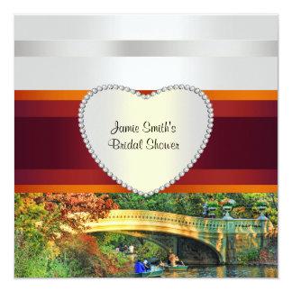 NYC Bow Bridge Central Park H Bridal Shower Invite