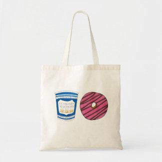 NYC Breakfast Cart Coffee Donut Doughnut Food Tote