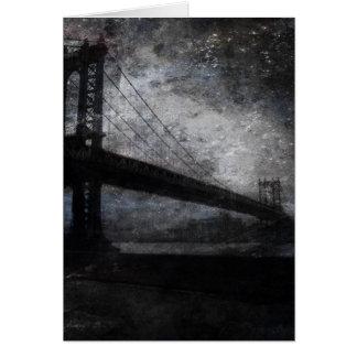 NYC Bridge Painting Greeting Card