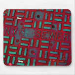 NYC Broadway Street Manhole Cover Mouse Pad