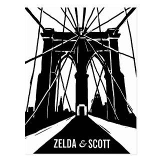 NYC Brooklyn Bridge | Save the Date Postcard