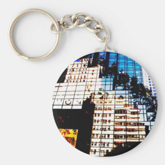NYC Building Reflections Keychain
