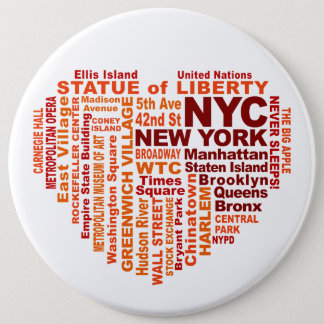NYC button - size colossal