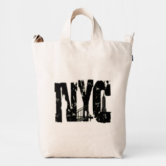 nyc by eklektix BE DIFFERENT Duck Canvas Bag