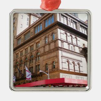 NYC Carnegie Hall Adorno Navideño Cuadrado De Metal