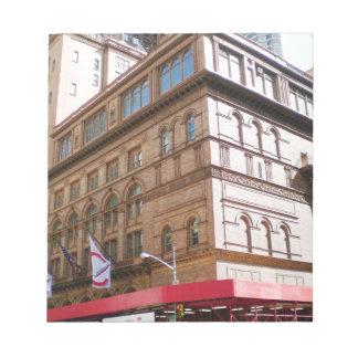 NYC Carnegie Hall Notepad
