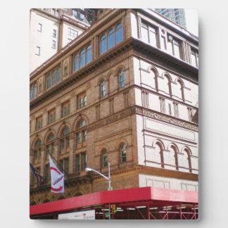 NYC Carnegie Hall Placas De Madera