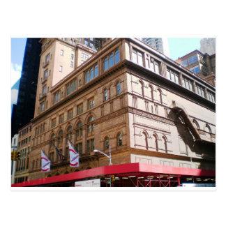 NYC Carnegie Hall Postcard