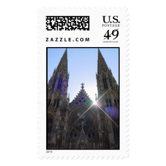 NYC Cathedral Postage Stamp