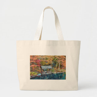 NYC Central Park Autumn, The Lake & Little Dock Large Tote Bag