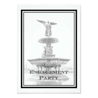 NYC Central Park Bethesda Fountain DIY Engagement 5x7 Paper Invitation Card