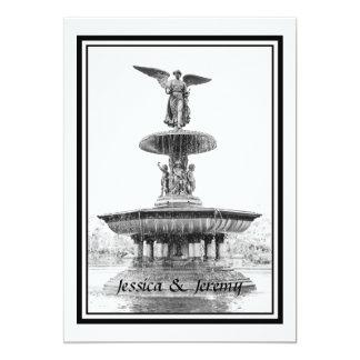 NYC Central Park Bethesda Fountain DIY Wedding Card