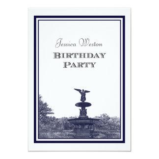 NYC Central Park Bethesda Ft DIY #2 Birthday Party Card