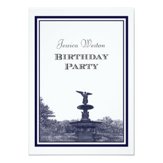 NYC Central Park Bethesda Ft DIY #2 Birthday Party Cards