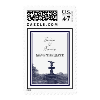 NYC Central Park Bethesda Ft DIY #2 Save th Date Postage Stamp
