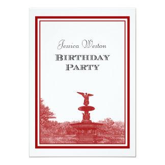 NYC Central Park Bethesda Ft DIY #3 Birthday Party Card