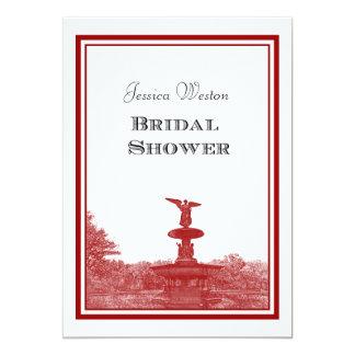 NYC Central Park Bethesda Ft DIY #3 Bridal Showr Card