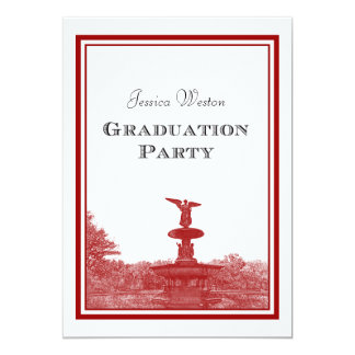 NYC Central Park Bethesda Ft DIY #3 Graduation Personalized Announcements