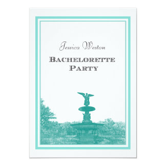 NYC Central Park Bethesda Ft DIY #4 Bachelorette Personalized Invitation