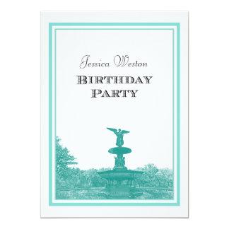 NYC Central Park Bethesda Ft DIY #4 Birthday Party Card