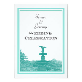 NYC Central Park Bethesda Ft DIY #4 Wedding Card