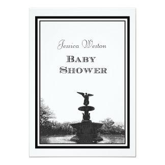 NYC Central Park Bethesda Ft DIY Etch Baby Shower Card