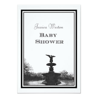 NYC Central Park Bethesda Ft DIY Etch Baby Shower Personalized Invitations