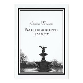 NYC Central Park Bethesda Ft DIY Etch Bachelorette Card