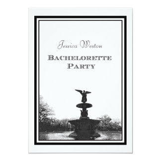 NYC Central Park Bethesda Ft DIY Etch Bachelorette Personalized Invitations