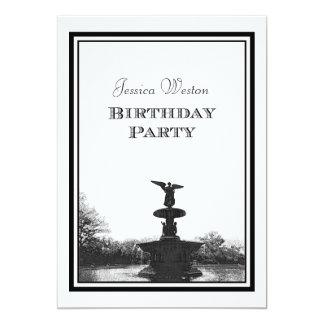NYC Central Park Bethesda Ft DIY Etch Birthday Pty Card