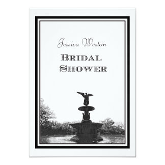 NYC Central Park Bethesda Ft DIY Etch Bridal Showr Card