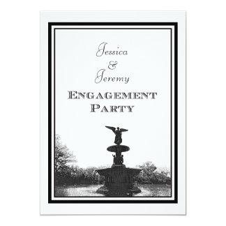 NYC Central Park Bethesda Ft DIY Etch Engagement Card