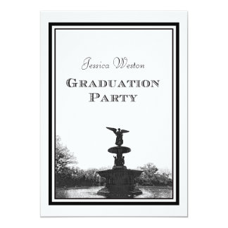 NYC Central Park Bethesda Ft DIY Etch Graduation Personalized Announcement